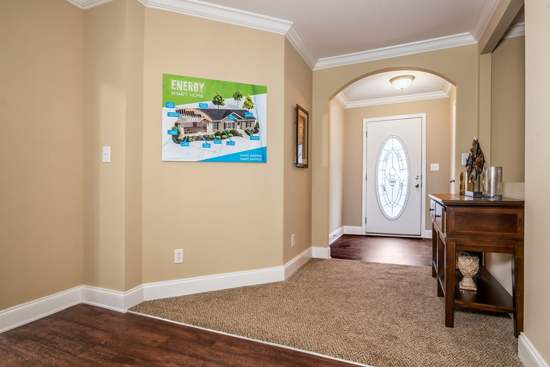 The 1779 LEGACY Foyer. This Manufactured Mobile Home features 3 bedrooms and 2 baths.