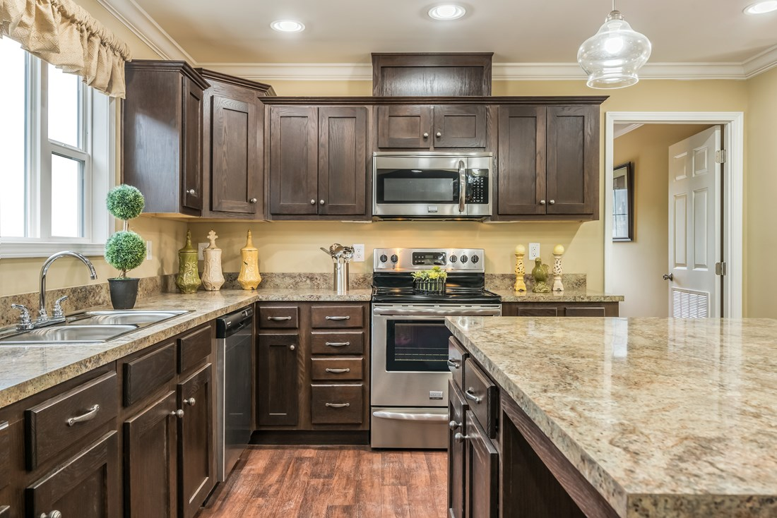 The 1779 LEGACY Kitchen. This Manufactured Mobile Home features 3 bedrooms and 2 baths.