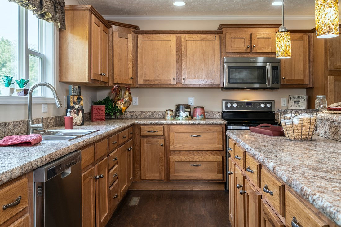The 2980 LEGACY Kitchen. This Modular Home features 3 bedrooms and 2 baths.