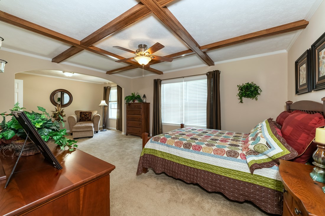The 2980 LEGACY Master Bedroom. This Modular Home features 3 bedrooms and 2 baths.