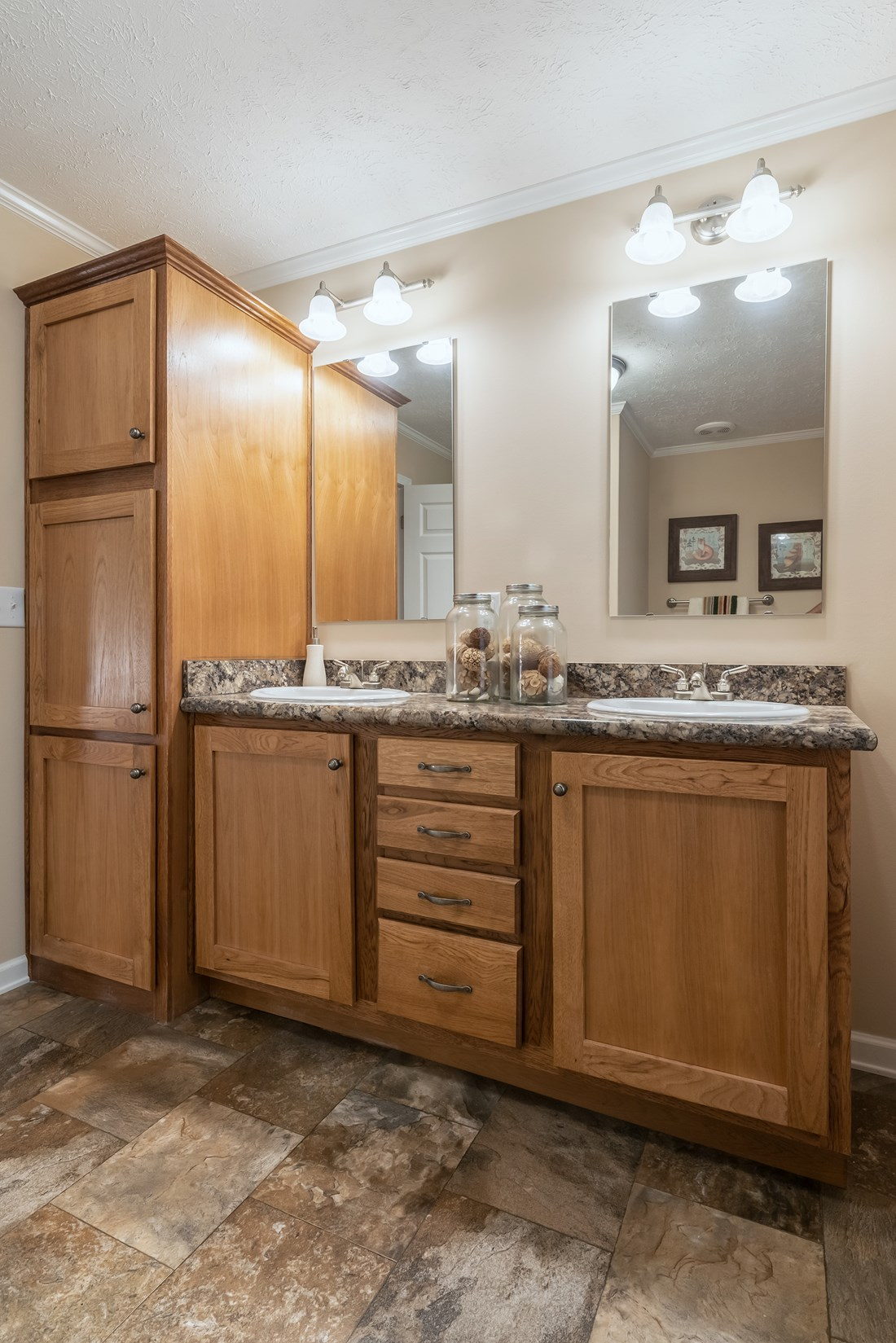 The 2980 LEGACY Master Bathroom. This Modular Home features 3 bedrooms and 2 baths.
