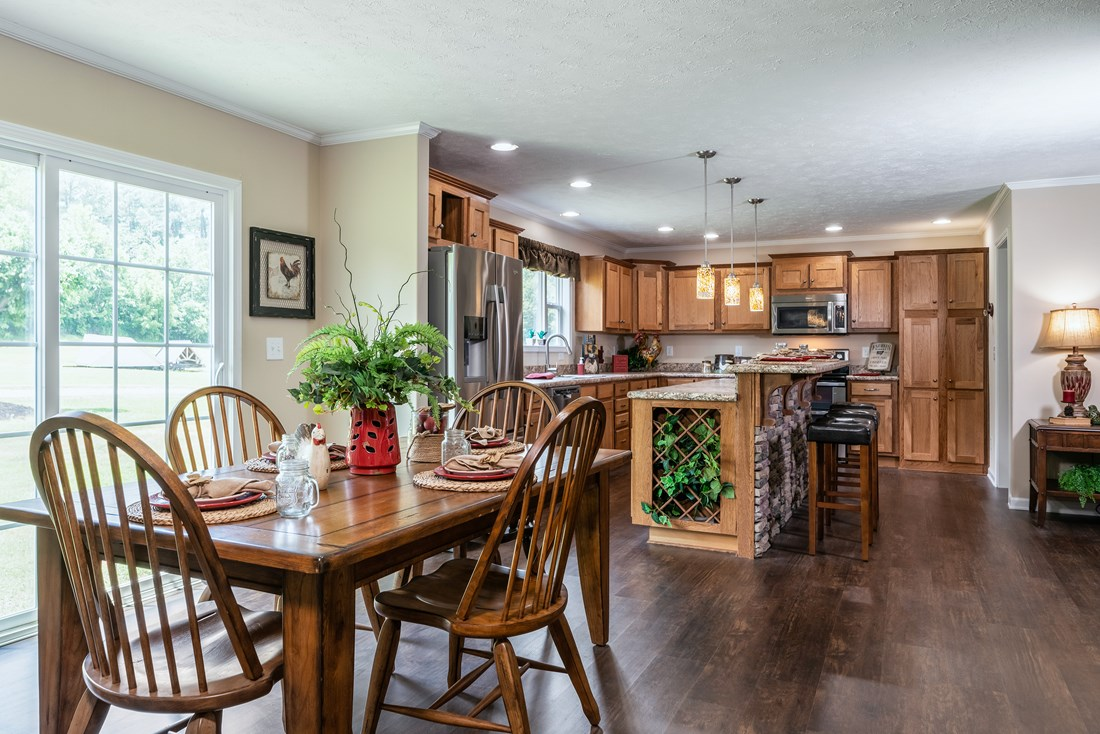 The 2980 LEGACY Dining Area. This Modular Home features 3 bedrooms and 2 baths.